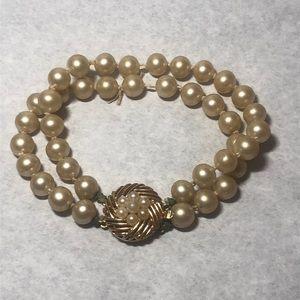 Crown Trifari Pearl Bracelet